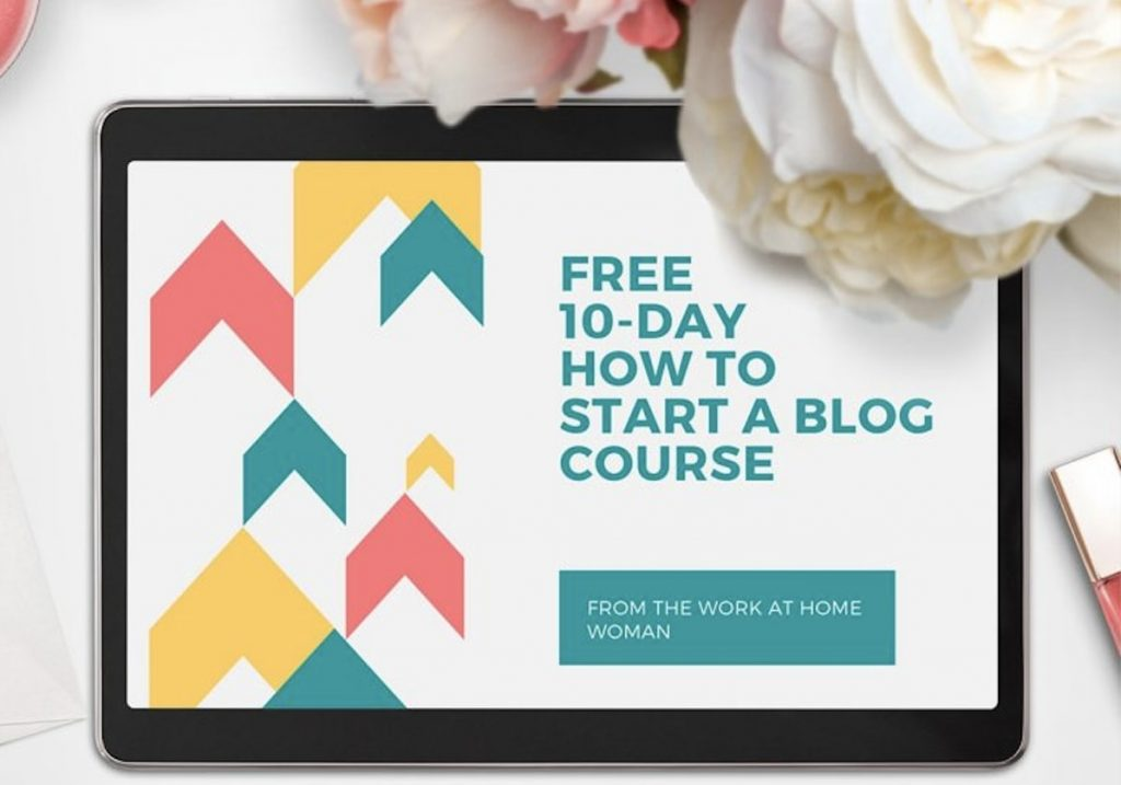 free work at home courses = blogging