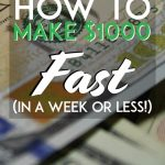 How to make 1k fast in a week or less pinterest pin