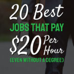 word on picture 20 best jobs that pay $20 per hour